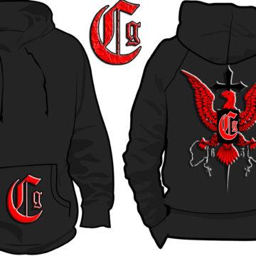 CSM 02 – CG BLACK RED HOODIE