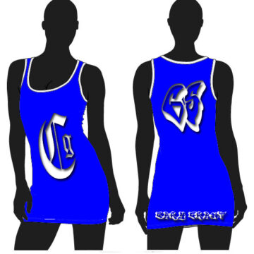 CSW04-CG WOMENS BLUE JERSEY